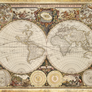 Historical World Map 2000 Piece Schmidt Jigsaw Puzzle