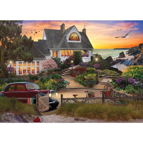 Home Sweet Home - Seaside HIll 1000 Piece Holdson Puzzle