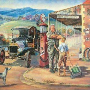 John Bradley - Running Repairs 1000 Piece Blue Opal Jigsaw Puzzle