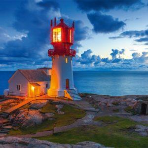 Lighthouse at Twilight 1000 Piece Jigsaw Puzzle - Schmidt