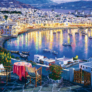 Mykonos At Sunset 1500 Piece Jigsaw Puzzle - Trefl