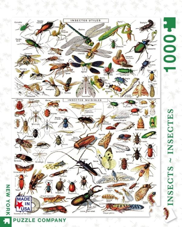 New York Puzzle Company - Insects 1000 Piece Puzzle
