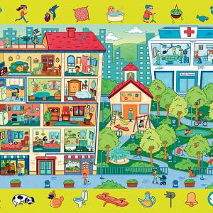 Observation Puzzle - Town Visit 70 Piece