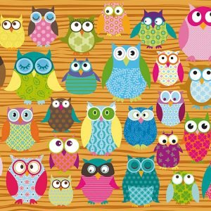 Owl Collage 500 Piece Jigsaw Puzzle - Schmidt