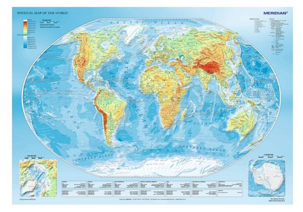 Physical Map of the World 1000 Piece Jigsaw Puzzle - Trefl