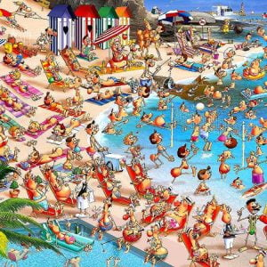 Piatnik - Ruyer, Beach Day 1000 Piece Jigsaw Puzzle