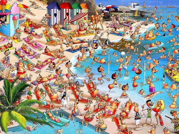 Piatnik - Ruyer, Beach Day 1000 Piece Jigsaw Puzzle