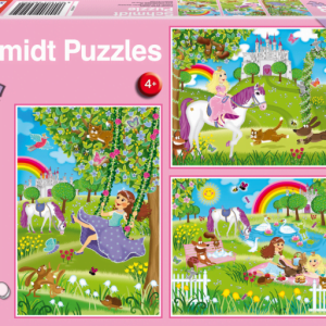 Princess and Castle 3 x 48 Piece Schmidt Puzzle