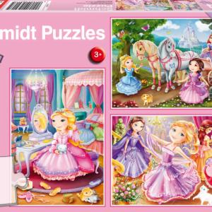 Princesses 3 x 24 Piece Schmidt Jigsaw Puzzles