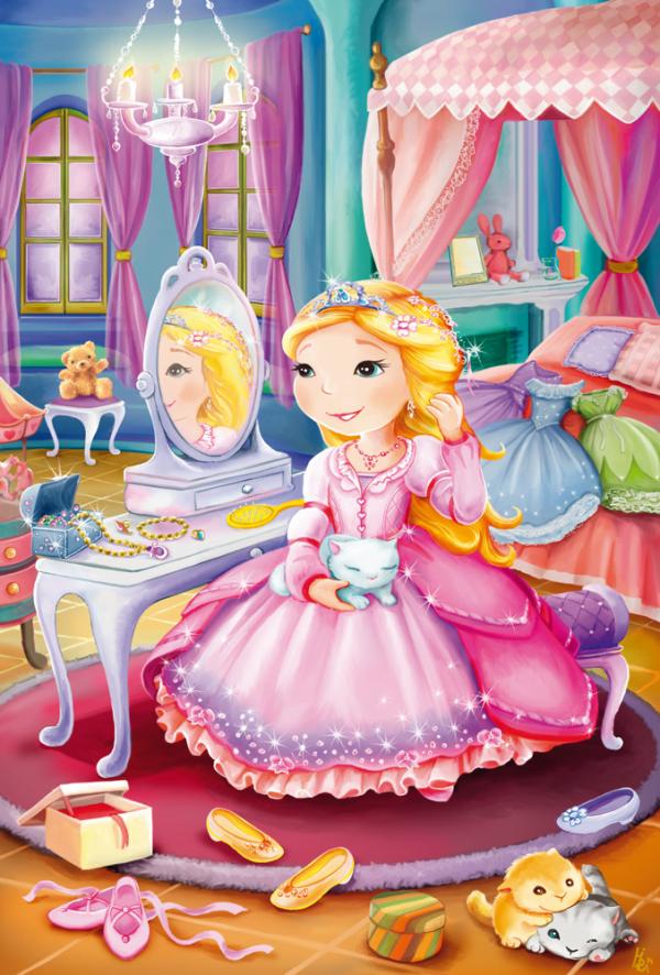 Princesses 3 x 24 Piece Schmidt Jigsaw Puzzle