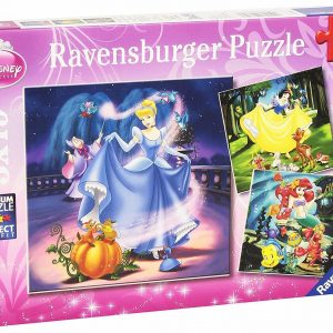 Ravensburger -Disney Snow White Cinderella and Ariel 100 PC Puzze