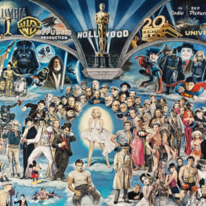 Renato Casaro - Hollywood, The Universe of Glory 1000 Piece Puzzle