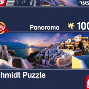 Schmidt - Sunset on Santorini 1000 Piece Panoramic Jigsaw Puzzle