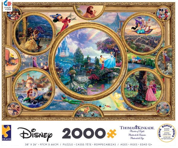 Thomas Kinkade - Disney Collage 2000 Piece Puzzle