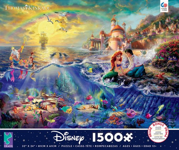 Thomas Kinkade Disney Little Mermaid 1500 Piece Puzzle