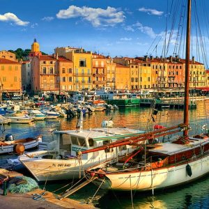 Trefl - Old Port in St Tropez 1500 Piece Jigsaw Puzzle