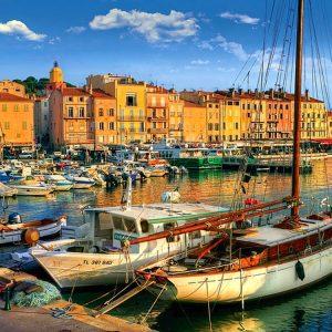 Trefl - Old Port in St Tropez 1500 Piece Jigsaw Puzzle
