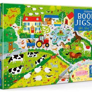 Usborne Book & Jigsaw - On the Farm 100 Piece