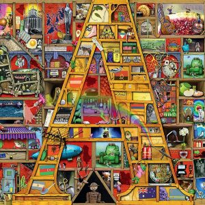 Colin Thompson - Awesome Alphabet 'A' 1000 Piece Puzzle - Ravensburger