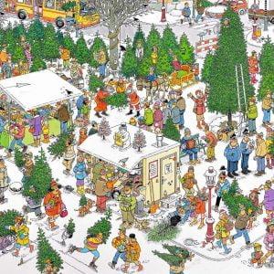 JVH Christmas Tree Market 2000 Piece Jigsaw Puzzle - Jumbo