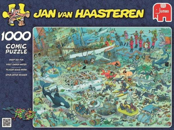 JVH - Deep Sea Fun 1000 Piece Jigsaw Puzzle - Jumbo