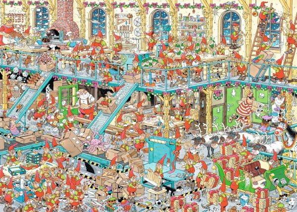 JVH - Happy Holidays 2 x 1000 Piece Jigsaw Puzzle - Jumbo