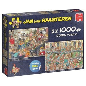 JVH - Happy Holidays 2 x 1000 Piece Jigsaw Puzzle - Jumbo