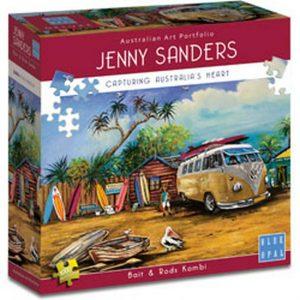 Jenny Sanders - Bait & Rods Kombi 1000 Piece Puzzle - Blue Opal