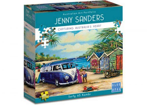 Jenny Sanders - Surfy 63 Kombi 1000 Piece Puzzle - Blue Opal