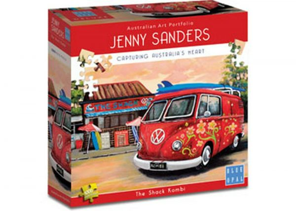 Jenny Sanders - The Shack Kombi 1000 Piece Puzzle - Blue Opal