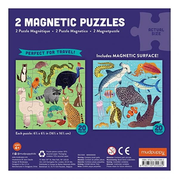 Magnetic Puzzles - Land and Sea - Mudpuppy