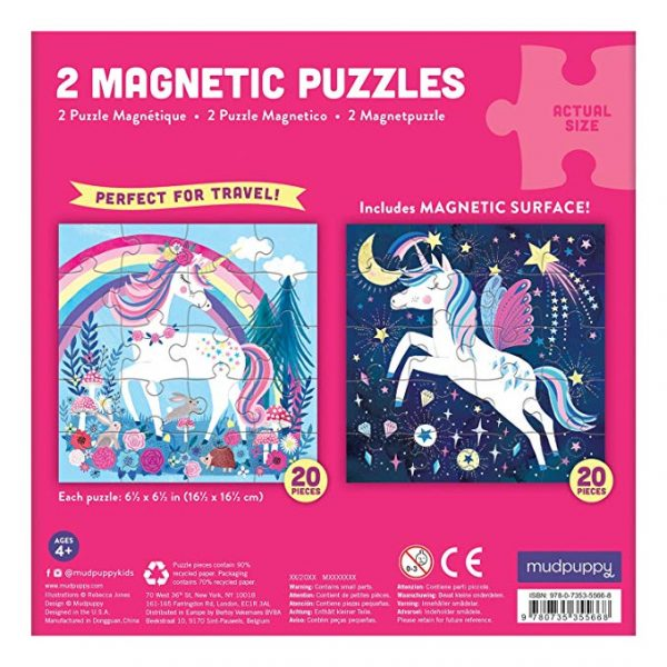 Magnetic Puzzles Magical Unicorn - MudPuppy