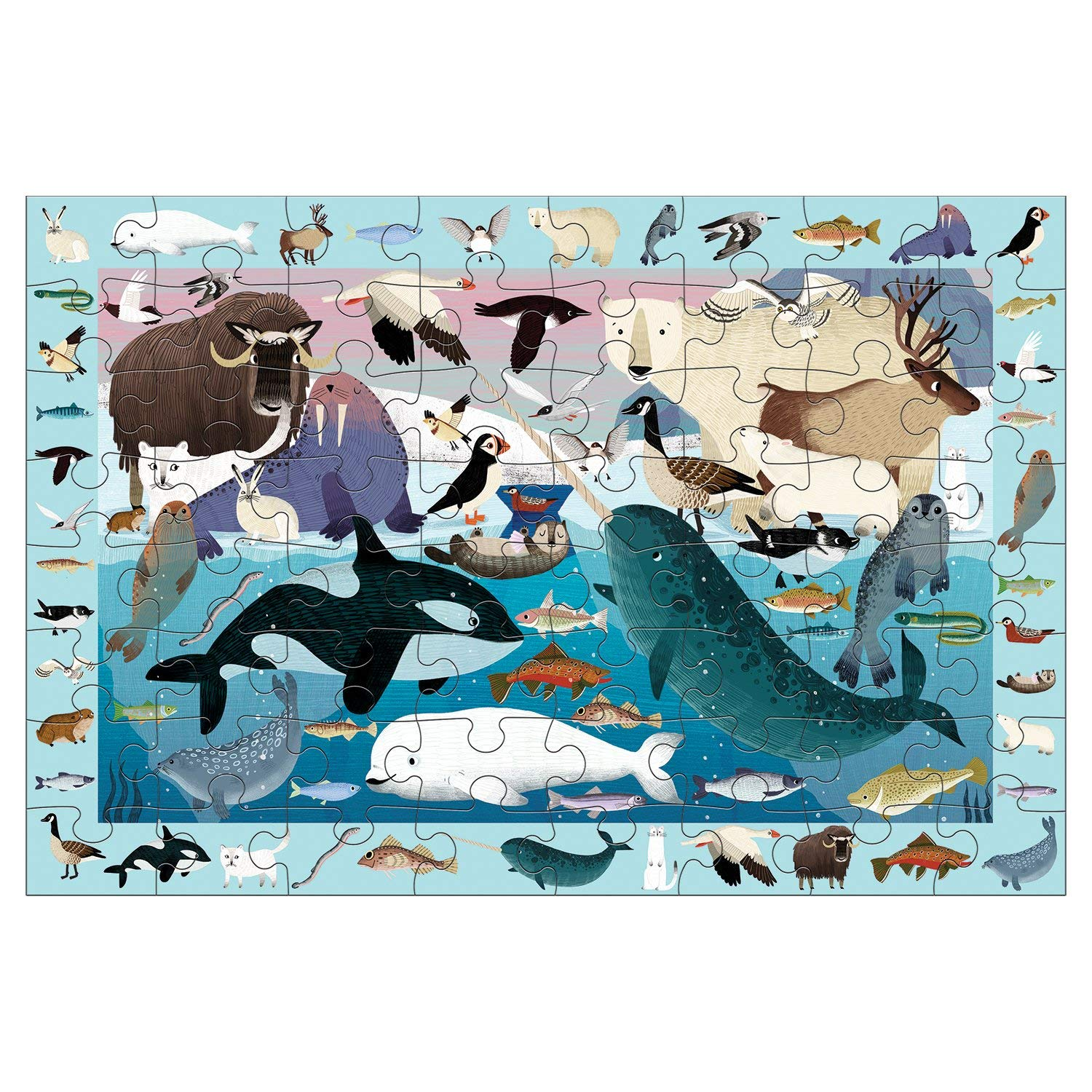 MUDPUPPY - Search and Find 64 Piece Arctic Life Jigsaw Puzzle