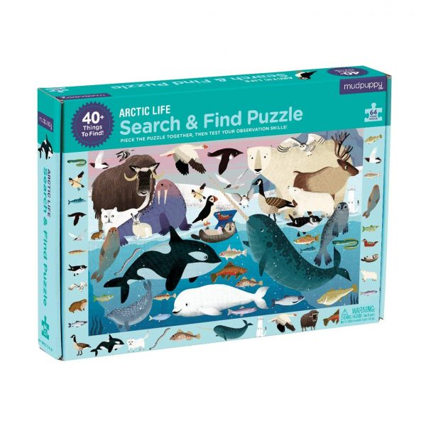 Search & Find - Arctic Life 64 Piece Jigsaw Puzzle - Mudpuppy