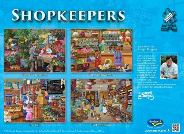 Shopkeepers - Ira's Deli 1000 piece Jigsaw Puzzle Holdson