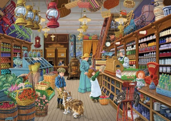 Shopkeepers - Post & Popcorn 1000 Piece Puzzle - Holdson