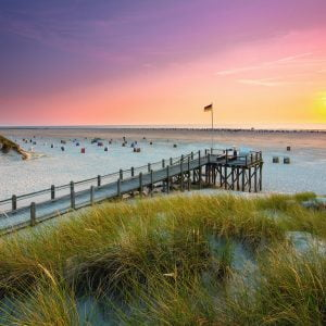 Sunset over Amrum 1000 Piece Jigsaw Puzzle