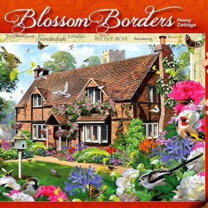 Blossom Borders - Peony Cottage 500 XL Piece - Holdson