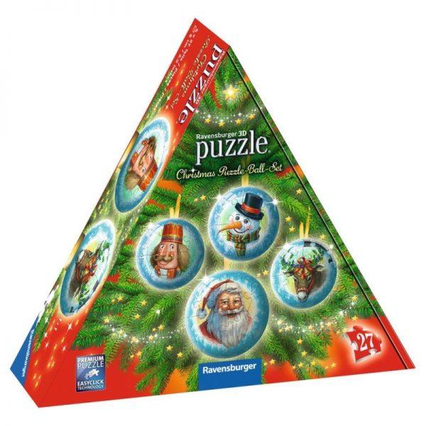 3D Christmas Decoration Set 4 x 27 Piece - Ravensburge