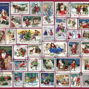 Christmas Wishes Stamps 1000 Piece Jigsaw Puzzle - Ravensburger