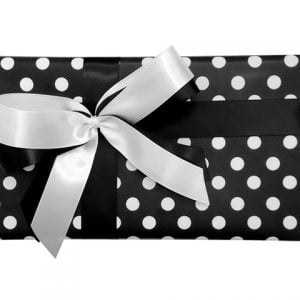 Gift Wrap Combo - Black & White Dots