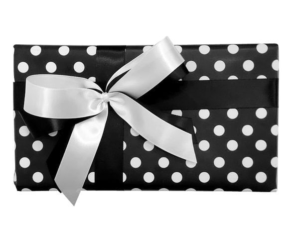 Gift Wrap Combo - Black & White Dots