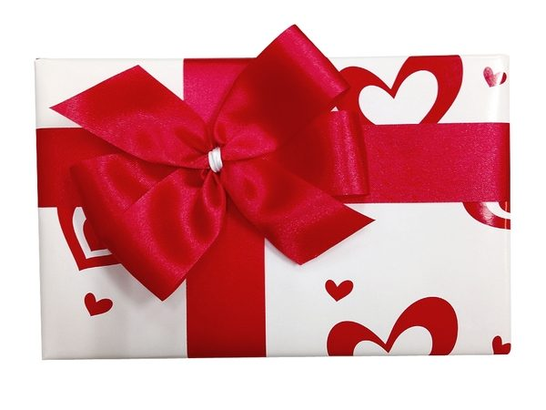 Gift Wrap - Paper & Ribbon Red Heart