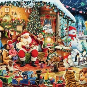 Let's Visit Santa 1000 Piece Jigsaw Puzzle - Ravensburger
