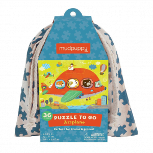 Puzzle to Go - Airplane 36 Piece Puzzle - Mudpuppy