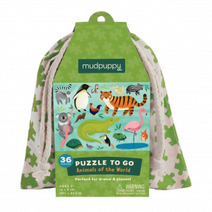 Puzzle to Go - Animals of the World Mudpuppy