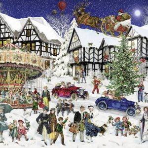 Snowy Village 1000 Piece Jigsaw Puzzle - Ravensburger