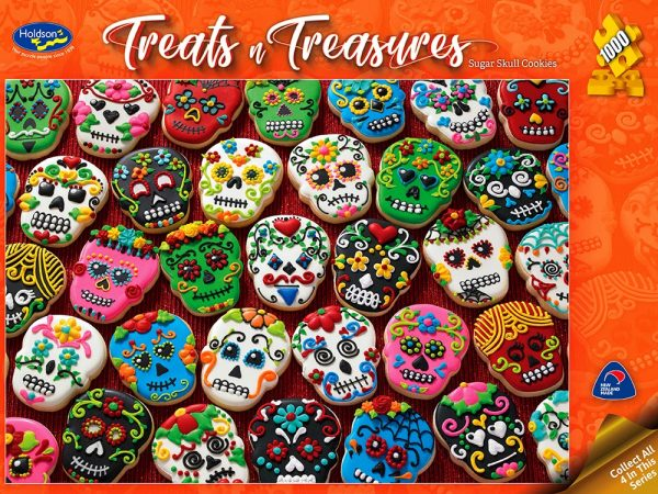 Treats N Treasures - Sugar Skull Cookies 1000 Piece Jigsaw Puzzle Holdson