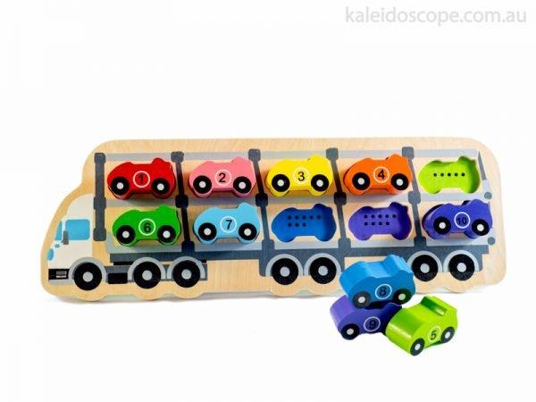 1-10 Car Puzzle - Kiddie Connect