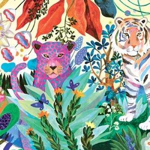 Rainbow Tigers 1000 Piece Jigsaw Puzzle - Djeco